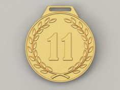 11 years anniversary medal 3D Model