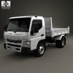 Mitsubishi Fuso Canter Tipper Truck 2010 3D Model