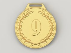 9 years anniversary medal 3D Model