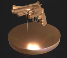 Revolver Stand 3D Model