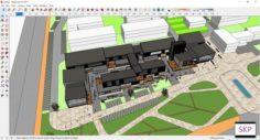 Sketchup Commercial complex D6 3D Model