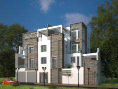 Villa exterior visualisation 3D Model