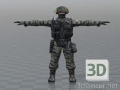 3D-Model  Soldier