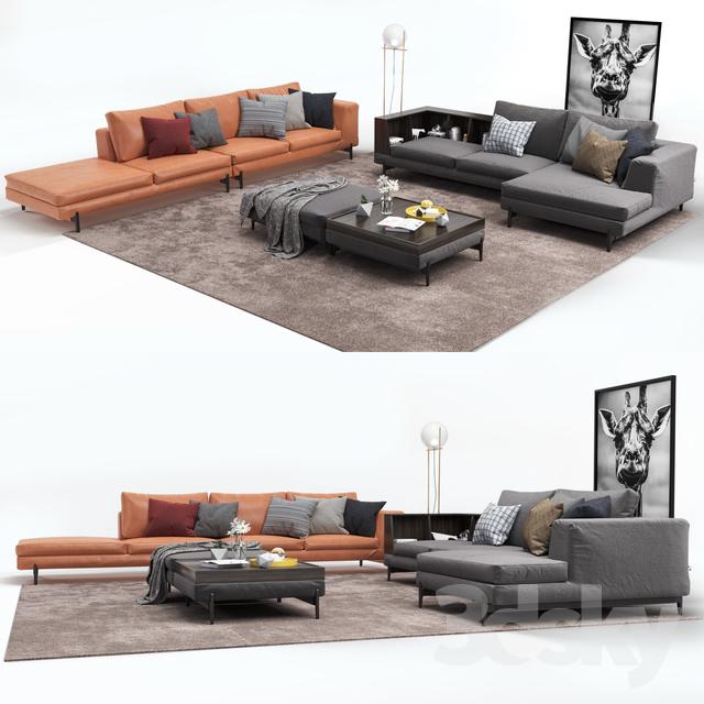 Corner sofa Ditre Italia Kim corner decor                                      3D Model