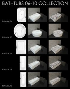 Bathtubs Collection 06-10 3D Model