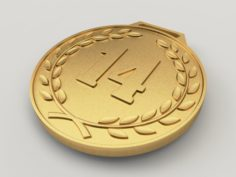 14 years anniversary medal 3D Model