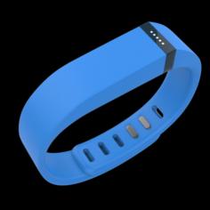 Fitbit Flex Wireless Wristband Blue 3D Model