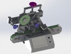 Table type labeling machine 3D Model