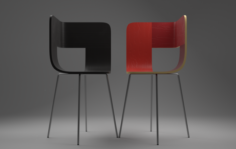Tria Wood Chair 3D Model