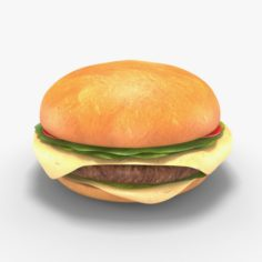 Low Poly Hamburger 3D Model