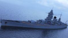 Dunkerque battleship 3D Model