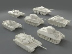 Tanks7 pieces – part-1 3D Model