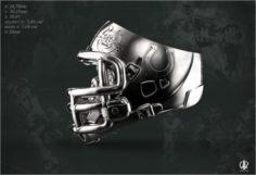 Gorilla-in-the-Helmet-of-American-Football 3D Model
