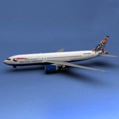 Boeing 777 British Airways Polar 3D Model