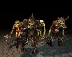 Customization Stylized Zombie 3D Model