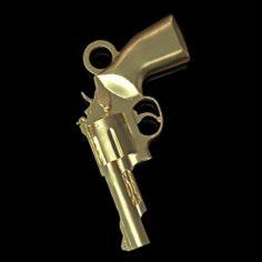 Revolver pendant 3D Model