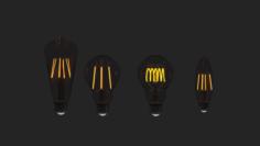 LightBulbSet 3D Model