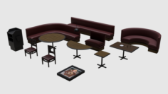 Restaurant Asset Pack 3D Model