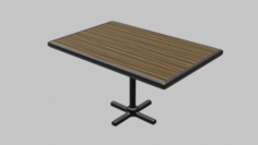 Restaurant Regular Table 3D Model