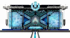 UMF- Ultra Music Festival Miami Main Stage 2018 Pioneer DJM 3D Model