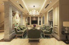 Villa livingroom luxury 3D Model