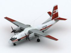 Antonov AN-26 Aeroflot Red scheme 3D Model