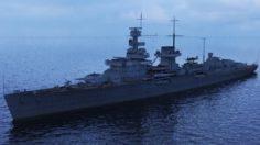 German cruiser Nurnberg with Ta-152 3D Model
