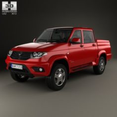 UAZ Patriot 23632 Pickup with HQ interior 2014 3D Model