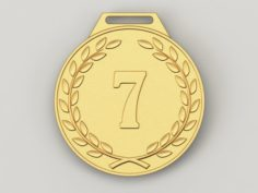 7 years anniversary medal 3D Model