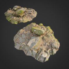 Ground stones D 3D Model