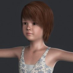 Realistic Beautiful Girl Child 3D Model