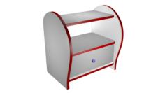 Shoe Cabinet High poly made in Blender 3D 3D Model
