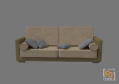 Modern Sofa – Class Code 3D Model