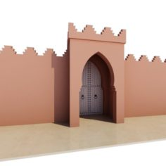 Traditional Moroccan Door Marrakech 3D Model