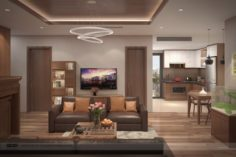 Apartment livingroom tradition 3D Model