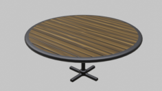 Restaurant Circular Table 3D Model