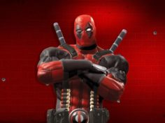 Deadpool RIGGING 3D Model