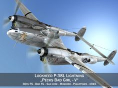 Lockheed P-38 Lightning – Pecks Bad Girl 3D Model