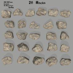 Rocks set 3D Model
