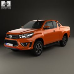 Toyota Hilux Double Cab Revo TRD Sportivo 2016 3D Model
