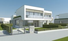 Modern Villa – Attached 2 Units 3D Model