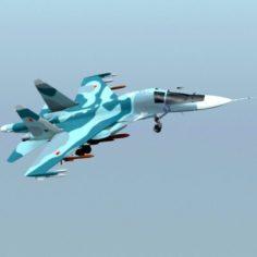Su-34 3D Model