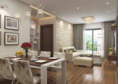 Apartment livingroom cream 3D Model