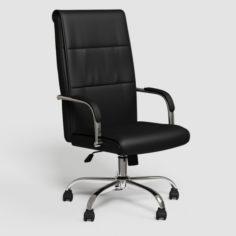 Black executive office chair VR – AR 3D Model