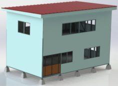 Steel Construction Building 3D Model
