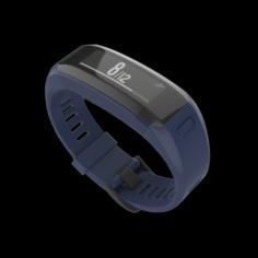 Garmin Vivo Smart HR Fitness Wristband Blue 3D Model