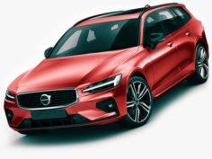 Volvo V60 2019 R-Design 3D Model