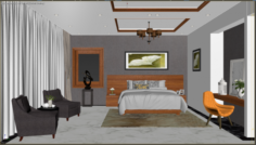 Bedroom modern villa 3D Model