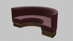 Restaurant Circular Booth 3D Model