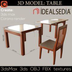 Table Ideal Sedia 3D Model